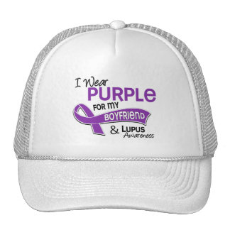 Llevo la púrpura para mi lupus del novio 42 gorro