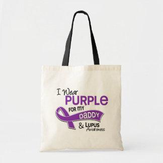 Llevo la púrpura para mi lupus del papá 42 bolsa tela barata