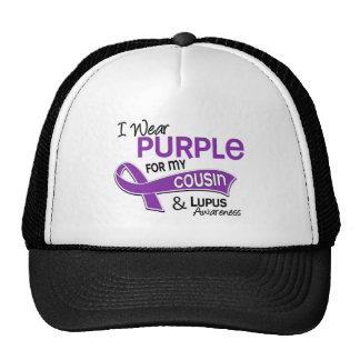 Llevo la púrpura para mi lupus del primo 42 gorros bordados
