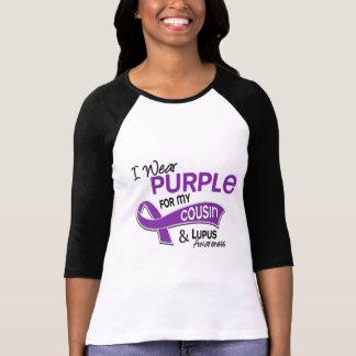 Llevo la púrpura para mi lupus del primo 42 camisetas