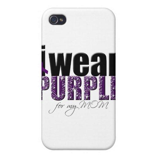 Llevo la púrpura para mi mamá iPhone 4/4S fundas