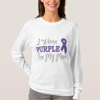 Llevo la púrpura para mi mamá (la cinta púrpura) playera
