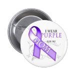 Llevo la púrpura para mi mamá pin