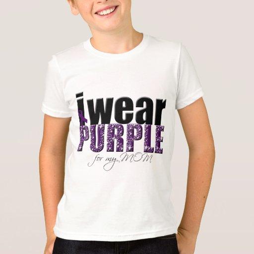 Llevo la púrpura para mi mamá playera