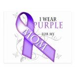 Llevo la púrpura para mi mamá postal