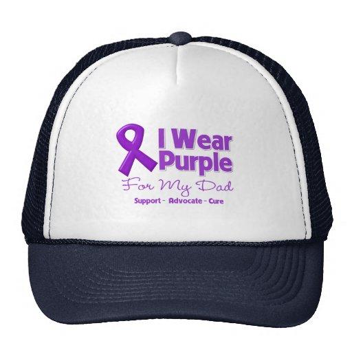 Llevo la púrpura para mi papá gorro de camionero