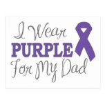 Llevo la púrpura para mi papá (la cinta púrpura) postal