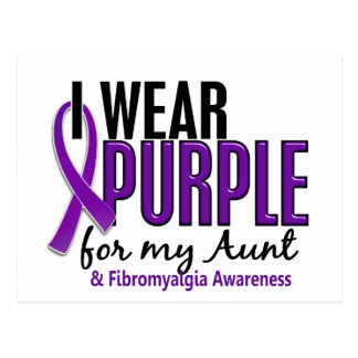 Llevo la púrpura para mi tía 10 Fibromyalgia Postal