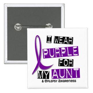 Llevo la púrpura para mi tía 37 epilepsia pin cuadrada 5 cm