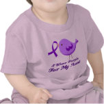 Llevo la púrpura para mi tía camisetas