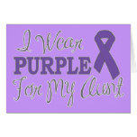 Llevo la púrpura para mi tía (la cinta púrpura) tarjeton