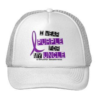 Llevo la púrpura para mi tío 37 epilepsia gorros bordados