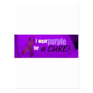 llevo la púrpura para una curación postal