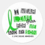 Llevo la verde lima 37 yo y mi enfermedad de Lyme Etiqueta Redonda