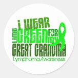 Llevo la verde lima para el gran linfoma de la abu etiquetas redondas