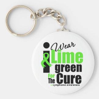 Llevo la verde lima para la curación llavero redondo tipo pin