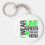 Llevo la verde lima para mi héroe - linfoma llaveros
