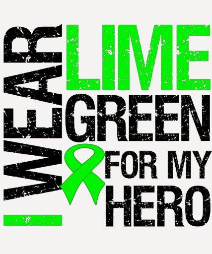 Llevo la verde lima para mi héroe - linfoma camisetas