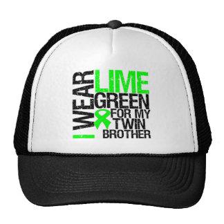 Llevo la verde lima para mi linfoma de Brother gem Gorras