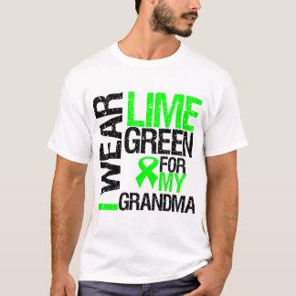 Llevo la verde lima para mi linfoma de la abuela playera