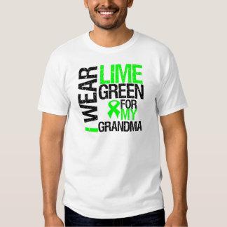 Llevo la verde lima para mi linfoma de la abuela remera