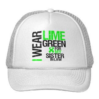 Llevo la verde lima para mi linfoma de la cuñada gorra