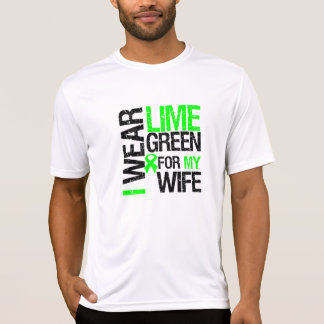 Llevo la verde lima para mi linfoma de la esposa playera