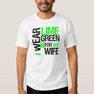 Llevo la verde lima para mi linfoma de la esposa playeras