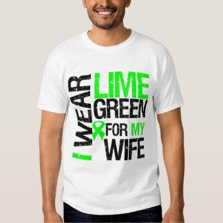 Llevo la verde lima para mi linfoma de la esposa polera