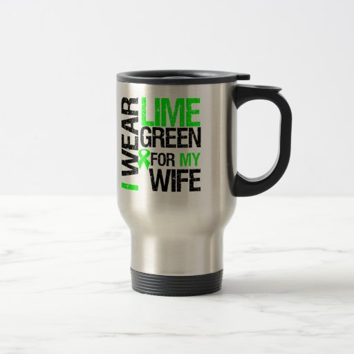 Llevo la verde lima para mi linfoma de la esposa tazas de café