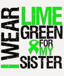 Llevo la verde lima para mi linfoma de la hermana camiseta