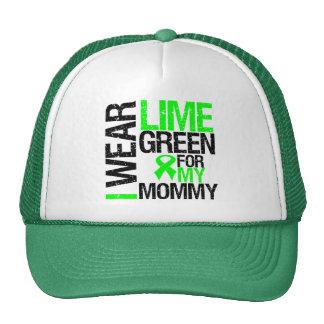 Llevo la verde lima para mi linfoma de la mamá gorras de camionero