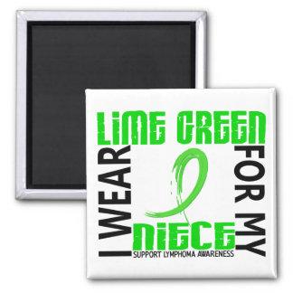 Llevo la verde lima para mi linfoma de la sobrina  iman de nevera