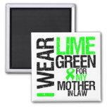 Llevo la verde lima para mi linfoma de la suegra imán de nevera