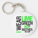 Llevo la verde lima para mi linfoma de la suegra llaveros personalizados