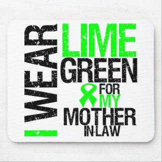 Llevo la verde lima para mi linfoma de la suegra mousepads