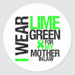 Llevo la verde lima para mi linfoma de la suegra etiqueta redonda