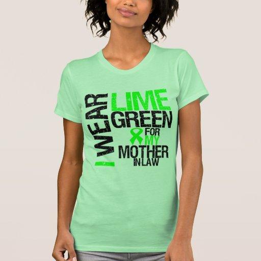 Llevo la verde lima para mi linfoma de la suegra camisetas