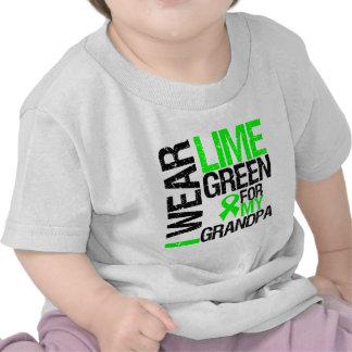 Llevo la verde lima para mi linfoma del abuelo camisetas