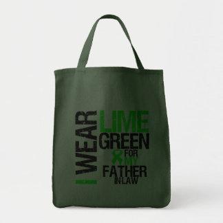 Llevo la verde lima para mi linfoma del suegro bolsa de mano