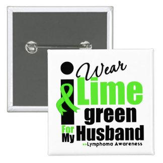 Llevo la verde lima para mi marido pin cuadrada 5 cm