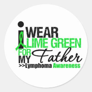Llevo la verde lima para mi padre pegatina redonda