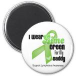 Llevo la verde lima para mi papá - linfoma imanes de nevera