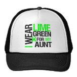 Llevo la verde lima para mi tía Lymphoma Gorros