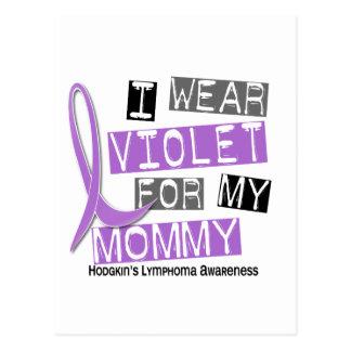 Llevo la violeta para el linfoma de mi Hodgkin de Tarjetas Postales