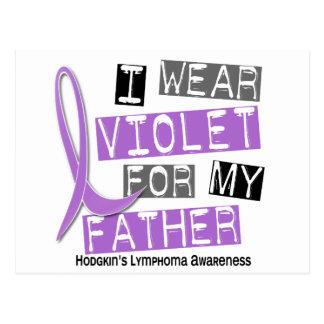 Llevo la violeta para el linfoma de mi Hodgkin del Postal