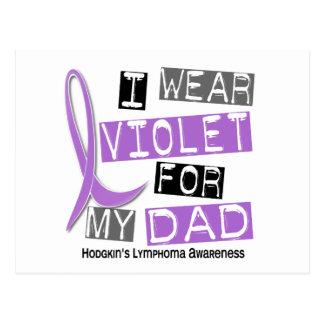 Llevo la violeta para el linfoma de mi Hodgkin del Postales