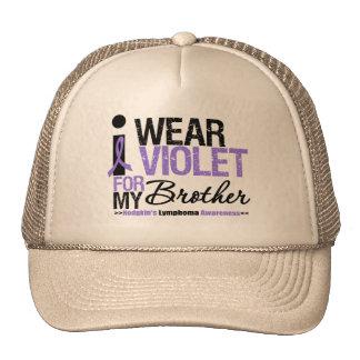 Llevo la violeta para mi Brother Gorros Bordados