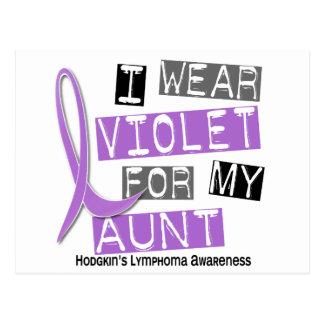 Llevo la violeta para mi el linfoma de tía 37 tarjetas postales