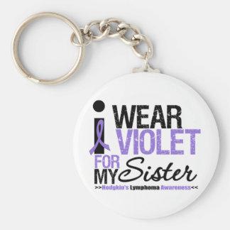 Llevo la violeta para mi hermana llavero redondo tipo pin